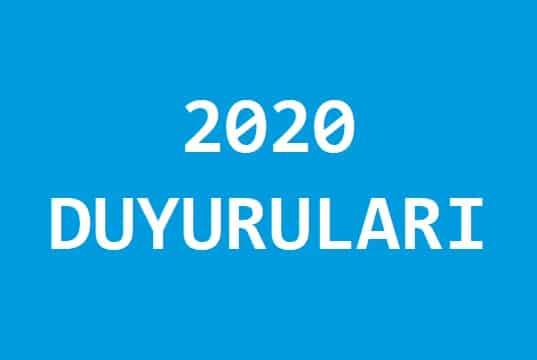 2020 DUYURULARI